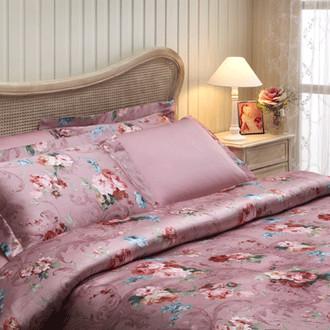 Комплект постельного белья Tivolyo Home CLASSIC ROSSE сатин, жатый шёлк (розовый)