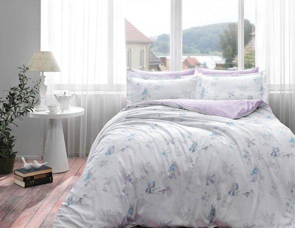 Комплект постельного белья Tivolyo Home IRIS хлопковый люкс-сатин 1,5 спальный, фото, фотография