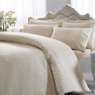 Комплект постельного белья Tivolyo Home MINERVA хлопковый люкс-сатин (бежевый)