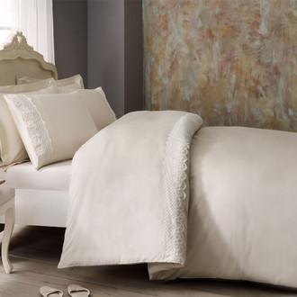 Комплект постельного белья Tivolyo Home OLIVIA хлопковый люкс-сатин (бежевый)