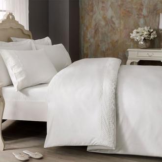 Комплект постельного белья Tivolyo Home OLIVIA хлопковый люкс-сатин (кремовый)