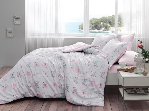 Комплект постельного белья Tivolyo Home MINT хлопковый люкс-сатин евро, фото, фотография