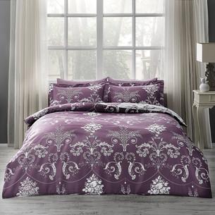 Постельное белье Tivolyo Home ARREDO хлопковый люкс-сатин фиолетовый семейный