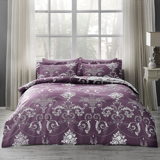 Комплект постельного белья Tivolyo Home ARREDO хлопковый люкс-сатин (фиолетовый)