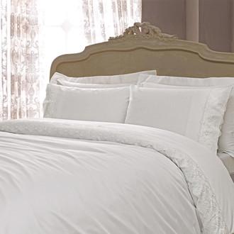 Комплект постельного белья Tivolyo Home MINOSO хлопковый сатин (кремовый)