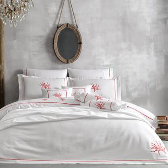 Комплект постельного белья Tivolyo Home CORALLO хлопковый люкс-сатин (красный)