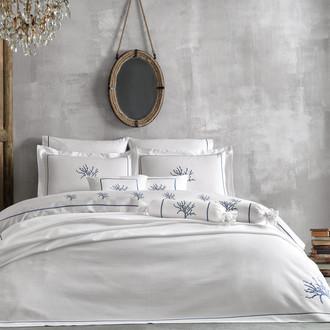 Комплект постельного белья Tivolyo Home CORALLO хлопковый люкс-сатин (тёмно-синий)