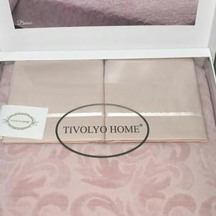 Махровая простынь-покрывало для укрывания Tivolyo Home BAROC хлопок розовый 160х220