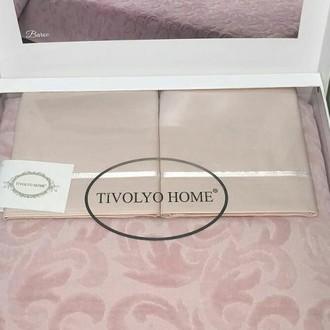 Махровая простынь-покрывало для укрывания Tivolyo Home BAROC хлопок розовый