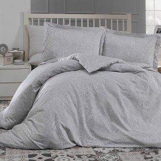 Комплект постельного белья Altinbasak EASTER хлопковый сатин (серый)