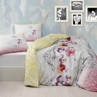 Постельное белье Altinbasak MONA хлопковый ранфорс розовый