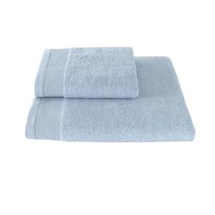 Полотенце для ванной Soft Cotton BAMBU хлопковая/бамбуковая махра светло-голубой 85х150