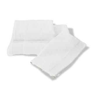 Полотенце для ванной Soft Cotton BAMBU хлопковая/бамбуковая махра белый