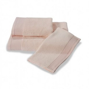 Полотенце для ванной Soft Cotton BAMBU хлопковая/бамбуковая махра розовый 85х150