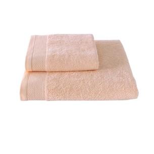 Полотенце для ванной Soft Cotton BAMBU хлопковая/бамбуковая махра персиковый 50х100