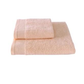 Полотенце для ванной Soft Cotton BAMBU хлопковая/бамбуковая махра персиковый