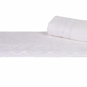 Полотенце для ванной Hobby Home Collection ALMEDA бамбуковая/хлопковая махра белый 70х140