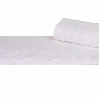 Полотенце для ванной Hobby Home Collection ALMEDA бамбуковая/хлопковая махра белый