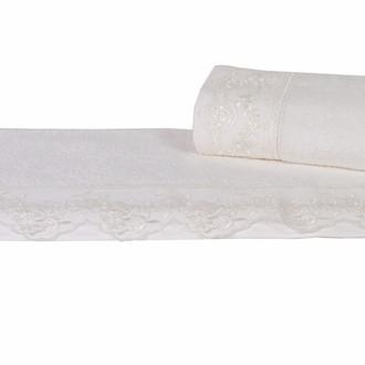 Полотенце для ванной Hobby Home Collection ALMEDA бамбуковая/хлопковая махра (кремовый)
