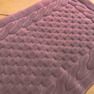 Коврик Gelin Home ERGUVAN хлопковая махра тёмно-розовый 80х140