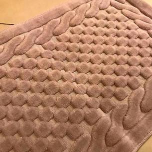 Коврик Gelin Home ERGUVAN хлопковая махра коричневый 120х180