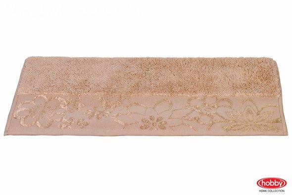 Полотенце для ванной Hobby Home Collection DORA хлопковая махра (бежевый) 100*150, фото, фотография