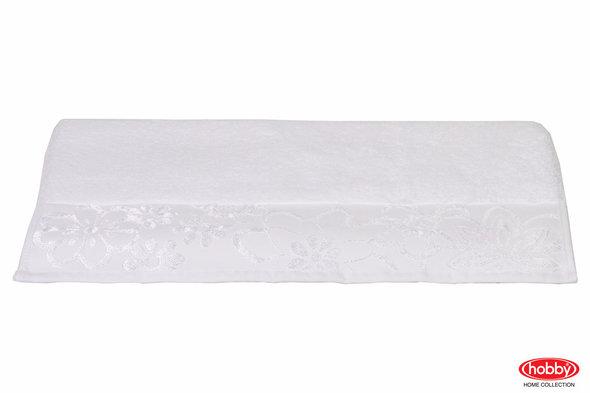 Полотенце для ванной Hobby Home Collection DORA хлопковая махра (белый) 100*150, фото, фотография