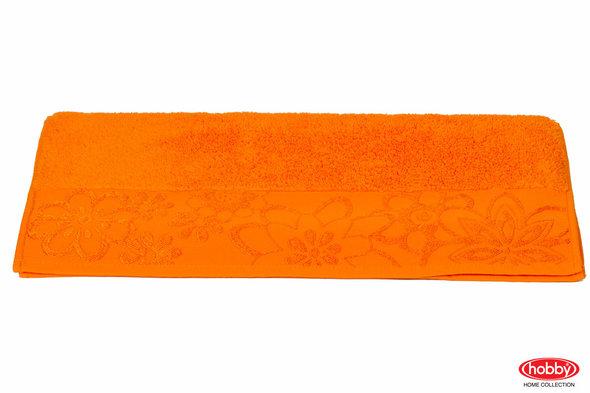 Полотенце для ванной Hobby Home Collection DORA хлопковая махра (оранжевый) 70*140, фото, фотография