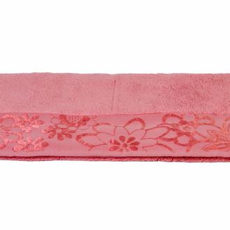 Полотенце для ванной Hobby Home Collection DORA хлопковая махра тёмно-розовый