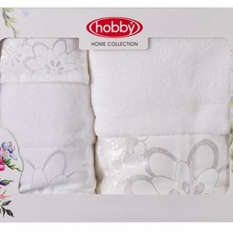 Подарочный набор полотенец для ванной 30*50, 50*90, 70*140 Hobby Home Collection DORA хлопковая махра (белый)