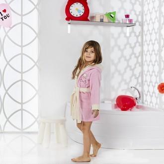 Халат детский Karna SNOP хлопковая махра (розовый)