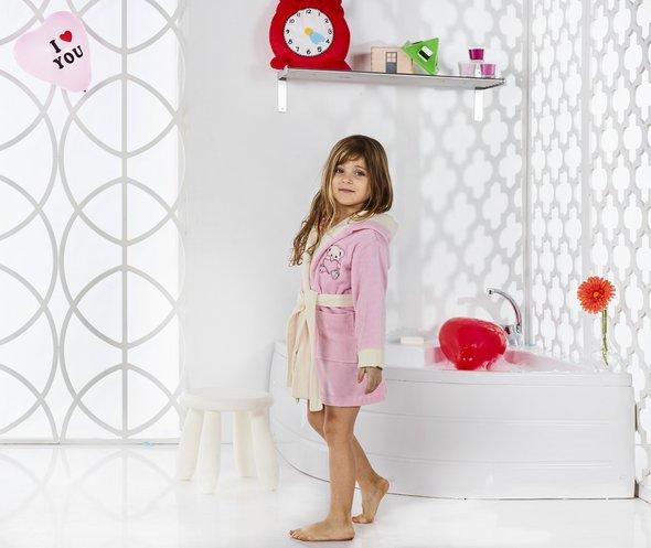 Халат детский Karna SNOP хлопковая махра (розовый) 2-3 года, фото, фотография