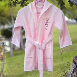 Халат детский Pupilla KIDS хлопковая махра (розовый)