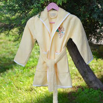 Халат детский Pupilla KIDS хлопковая махра (жёлтый)