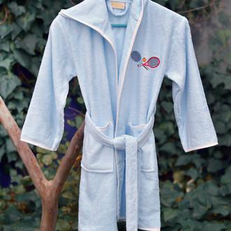 Халат детский Pupilla YOUNG хлопковая махра (голубой)