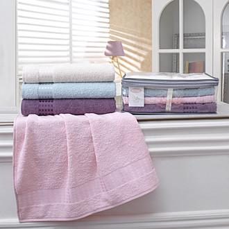 Подарочный набор полотенец для ванной 4 шт. Karna KAYRA хлопковая махра (V1)