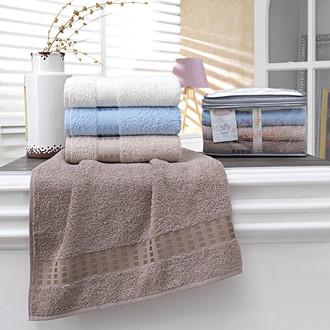 Подарочный набор полотенец для ванной 4 шт. Karna KAYRA хлопковая махра (V2)
