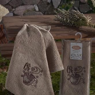 Полотенце кухонное Karna SELF бамбуковая махра (V7)