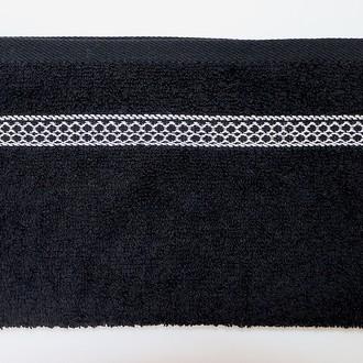 Полотенце для ванной Karna PETEK хлопковая махра (чёрный)