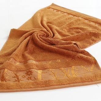Полотенце для ванной Pupilla ELIT бамбуковая махра (кирпичный)