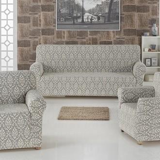 Набор чехлов на трёхместный диван и кресла 2 шт. Karna MILANO натурал