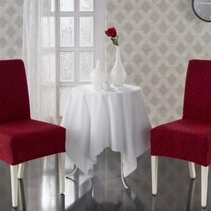 Набор чехлов на стулья 2 шт. Karna MILANO бордовый
