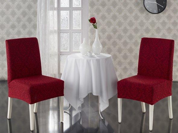 Набор чехлов на стулья (2 шт.) Karna MILANO (бордовый), фото, фотография