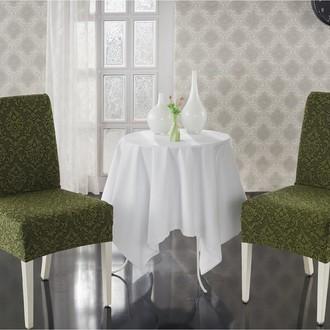 Набор чехлов на стулья (2 шт.) Karna MILANO (зелёный)