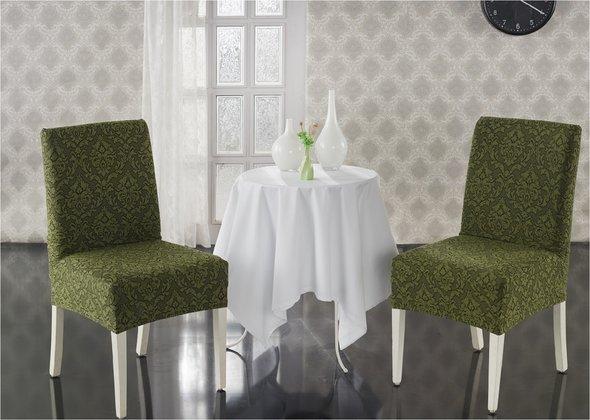 Набор чехлов на стулья (2 шт.) Karna MILANO (зелёный), фото, фотография
