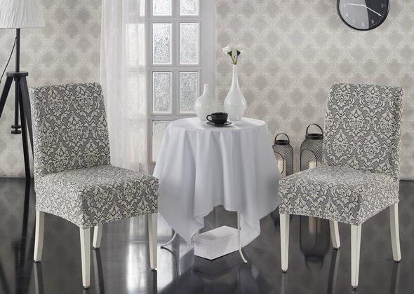 Набор чехлов на стулья (2 шт.) Karna MILANO (натурал), фото, фотография
