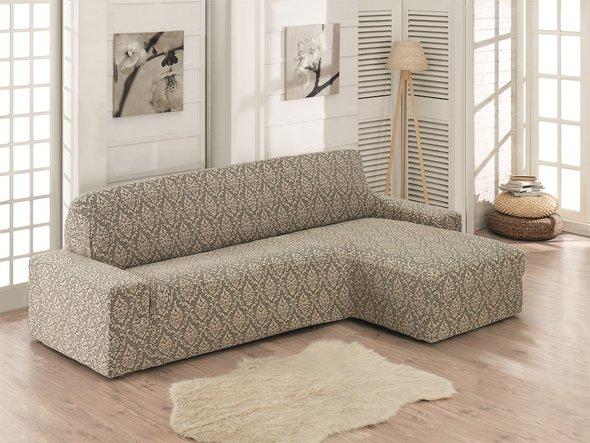 Чехол на угловой диван правосторонний Karna MILANO (бежевый), фото, фотография