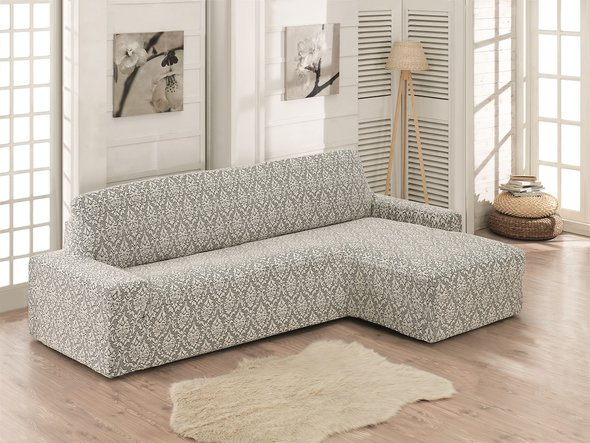 Чехол на угловой диван правосторонний Karna MILANO (натурал), фото, фотография