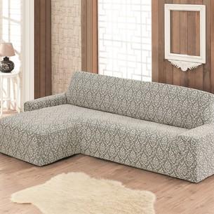 Чехол на угловой диван левосторонний Karna MILANO натурал