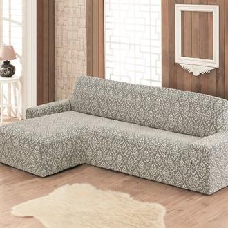 Чехол на угловой диван левосторонний Karna MILANO (натурал)